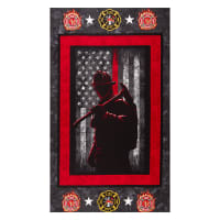 FireFighters Cotton Panel Red