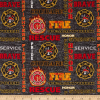 FireFighters Black Heather Print Logo