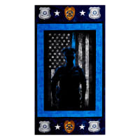 "Police Officer Cotton 24"" Panel Blue"
