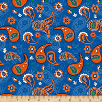 NCAA Florida Gators Paisley Cotton