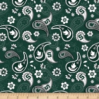 NCAA Michigan State Spartans Paisley Cotton