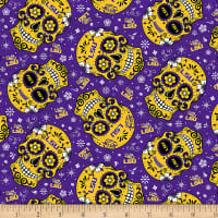 NCAA Louisiana State Tigers Sugar Skull Cotton