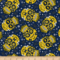 NCAA Michigan Wolverines Sugar Skull Cotton