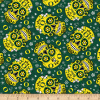 NCAA Oregon Ducks Sugar Skull Cotton