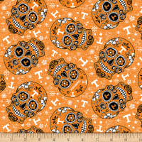 NCAA Tennessee Volunteers Sugar Skull Cotton