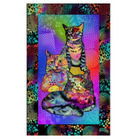 "Crazy for Cats Kitty Power 24"" Panel Multi"