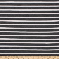 Telio St. James Stripe Double Knit Grey Mix / Ivory