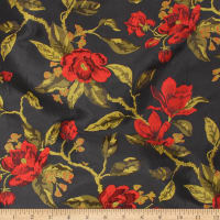 Telio Bowie Polyester Jacquard Floral Black Red