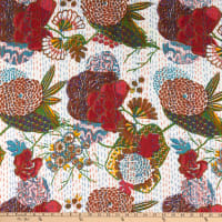 Windham Fabrics Kantha Hand Stitched Cotton Print Floral Multi