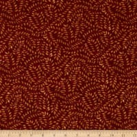 Timeless Treasures Tapestry Leaves Carnelian
