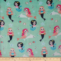 Plush Fleece Mermaids Green