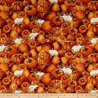 Timeless Treasures Pumpkin Patch Packed Pumpkins Pumpkin