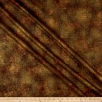 Timeless Treasures Metallic Fall Foliage 2 Shimmer Chocolate
