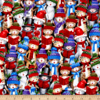Timeless Treasures Caroling Kitties Multi