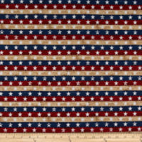 Timeless Treasures Stars & Stripes Star Stripe USA