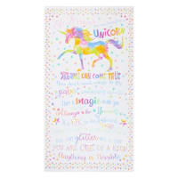 "Timeless Treasures Unicorn Life Lessons 24"" Panel White"