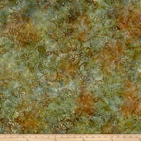 Timeless Treasures Tonga Batik Posey Grapefruit Willow