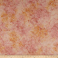 Timeless Treasures Tonga Batik Posey Rose Amber
