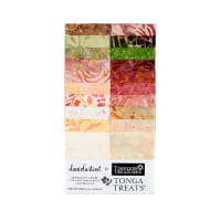 "Timeless Treasures Tonga Batik Treat 2.5"" Strip Pack Posey"