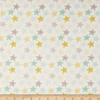Dear Stella Flannel Wide Awake Stars White