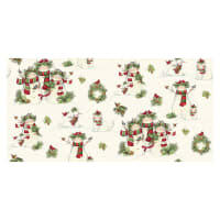 Susan Winget Christmas Cardinal Friends Scenic Cotton Multi