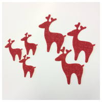 18-Pack Art to Sew Adhesive Burlap Reindeer Christmas Red