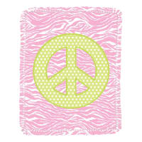 Springs Creative Peace Pink Microfiber Throw Kit