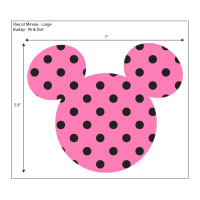 3-Pack Make It Disney Adhesive Printed Burlap Mickey Ears Large Pink
