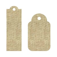 24-Pack Laminated Burlap Craft Tags