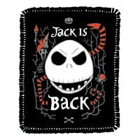 Disney Nightmare Before Christmas Jack is Black Fleece Throw Kit