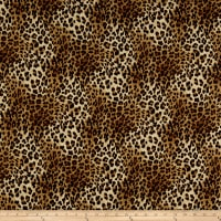 Telio Colorado Poly Faille Animal Print Gold