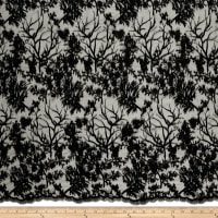 Telio Poppie Embellished Beaded Floral Lace Black
