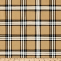 Telio Montgomery Stretch Bengaline Plaid Print Camel Black