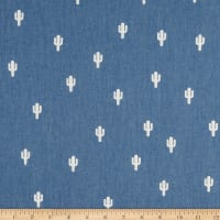 Telio Denim Cactus Print Light Blue