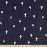 Telio Denim Cactus Print Dark Blue