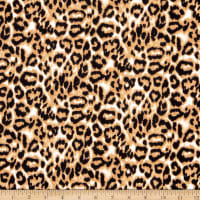 Telio Montgomery Stretch Bengaline Animal Print Camel Black