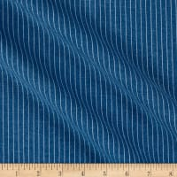 Telio 3.3oz Railroad Tencel Cotton Stripe Medium Blue