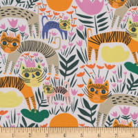 Cloud9 Fabrics Organic Wild Queen of Beasts Multi