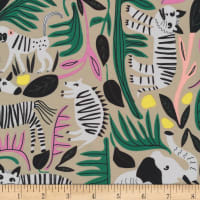 Cloud9 Fabrics Organic Wild Jungle Forest Gray