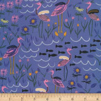Cloud9 Fabrics Organic Wild Island of the Moon Blue