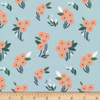 Cloud9 Fabrics Organic Stockbridge Buck's Oak Blue