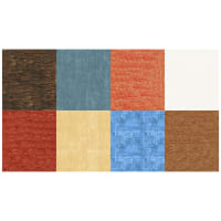 "Hoffman Digital Around Town 90"" Landscape Square Panel Brick"