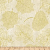 Hoffman Metallic Harvest Homecoming Leaves Natural/Gold