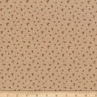 Stoffabric Denmark Quilters Basic Dusty Rosettes Brown/Orange