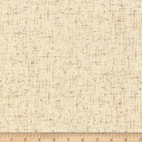 Stoffabric Denmark  Quilters Basic Dusty Grid With Dots Parchment