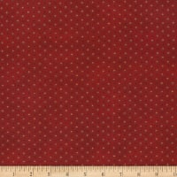 Stoffabric Denmark Quilters Basic Dusty Small Dots Rust