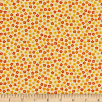 Stoffabric Denmark Quilters Basic Memory Tight Flowers Yellow