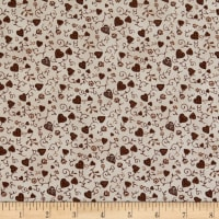 Stoffabric Denmark Quilters Basic Memory Hearts Taupe