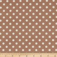Stoffabric Denmark Quilters Basic Memory Medium Dots Taupe
