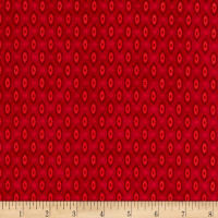 Stoffabric Denmark Quilters Basic Memory Shapes Red